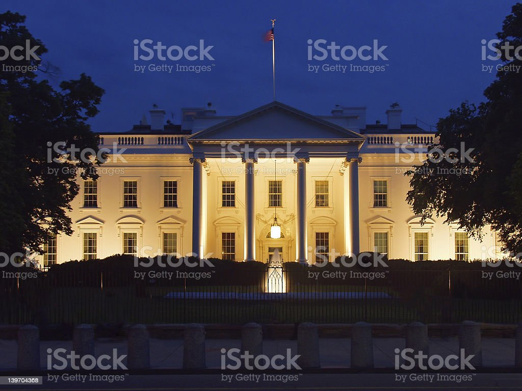 White house's west side stock photo