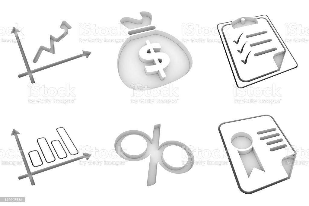 white icons - exchange royalty-free stock photo