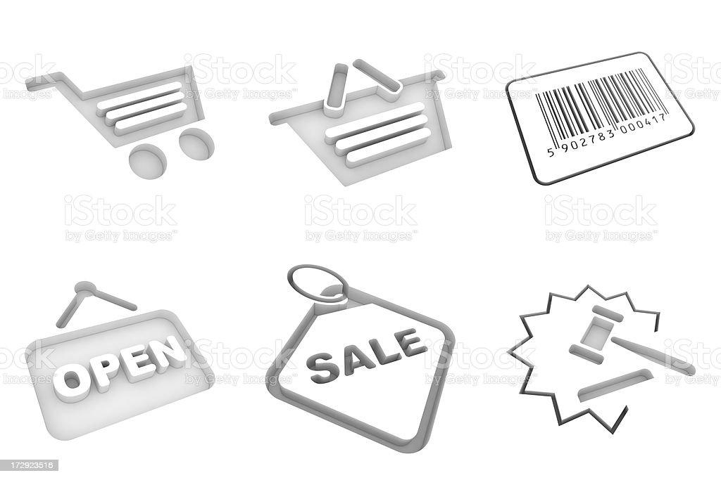 white icons - shopping royalty-free stock photo