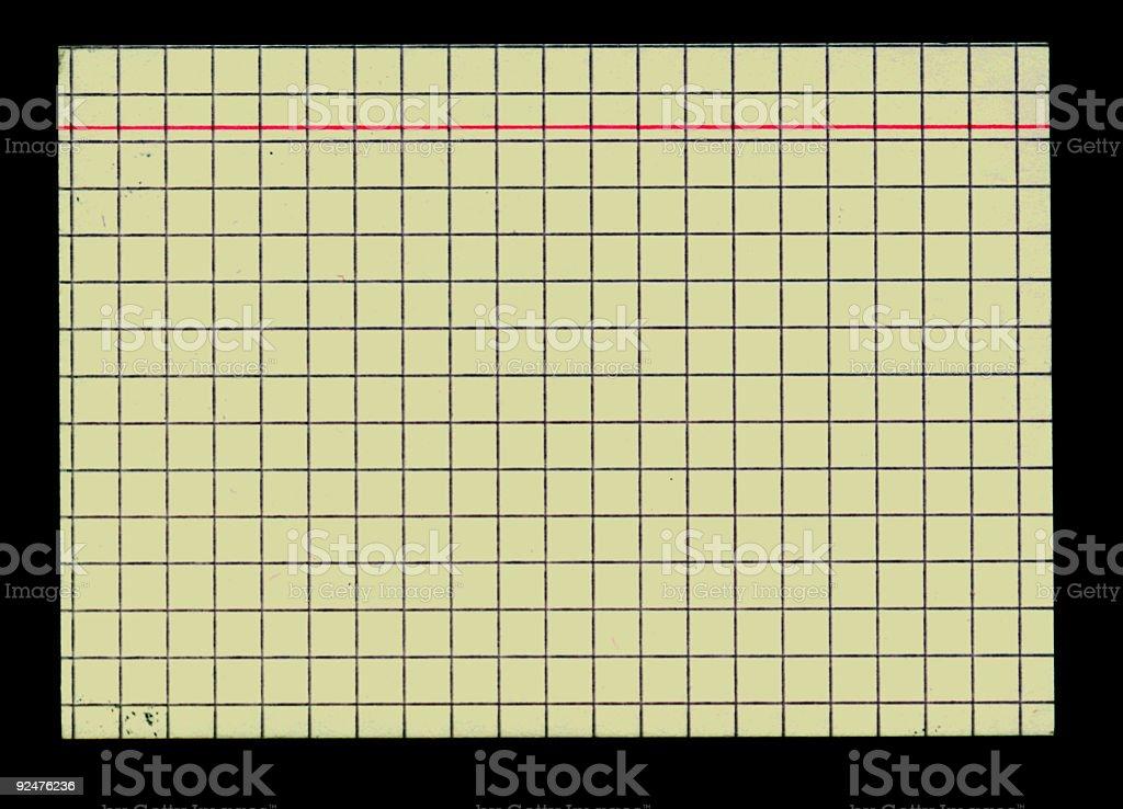 white index card on black royalty-free stock photo