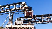 White industrial transporter fragment