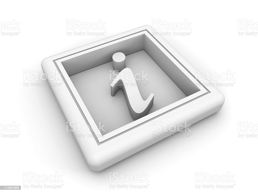 White Information  Symbol royalty-free stock photo