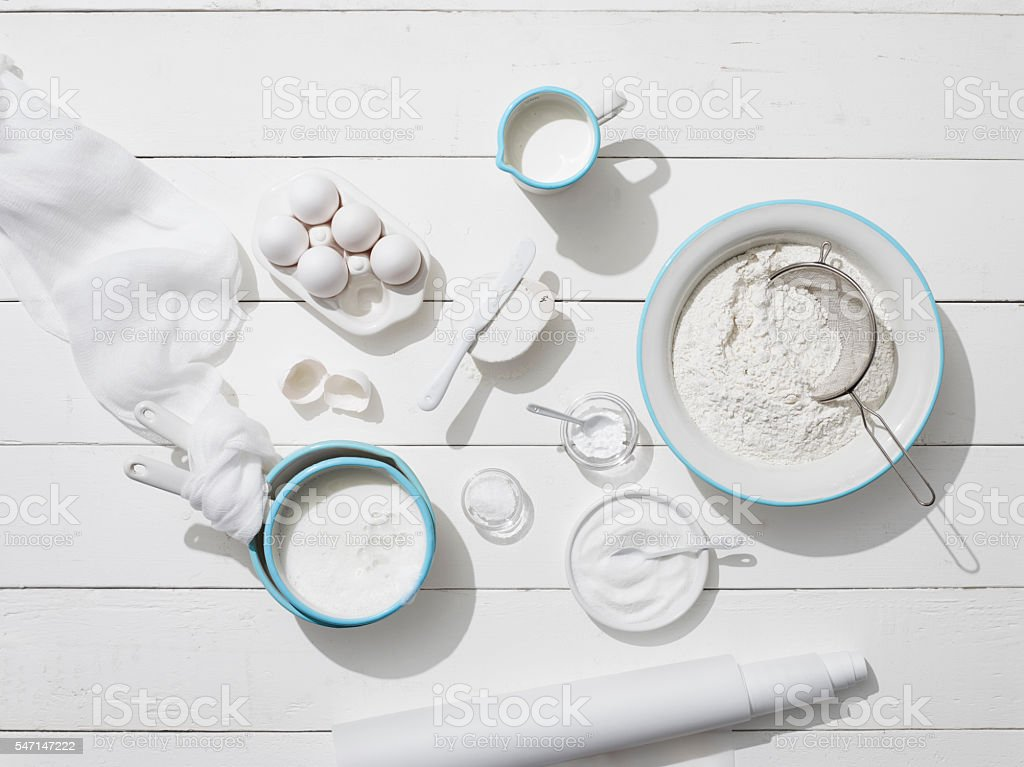 White ingredients stock photo