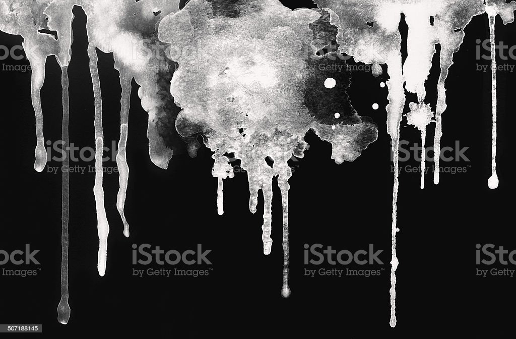 White ink droped. stock photo