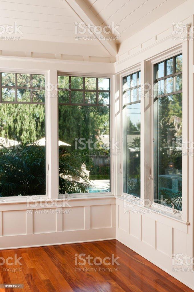 White Interior Door stock photo