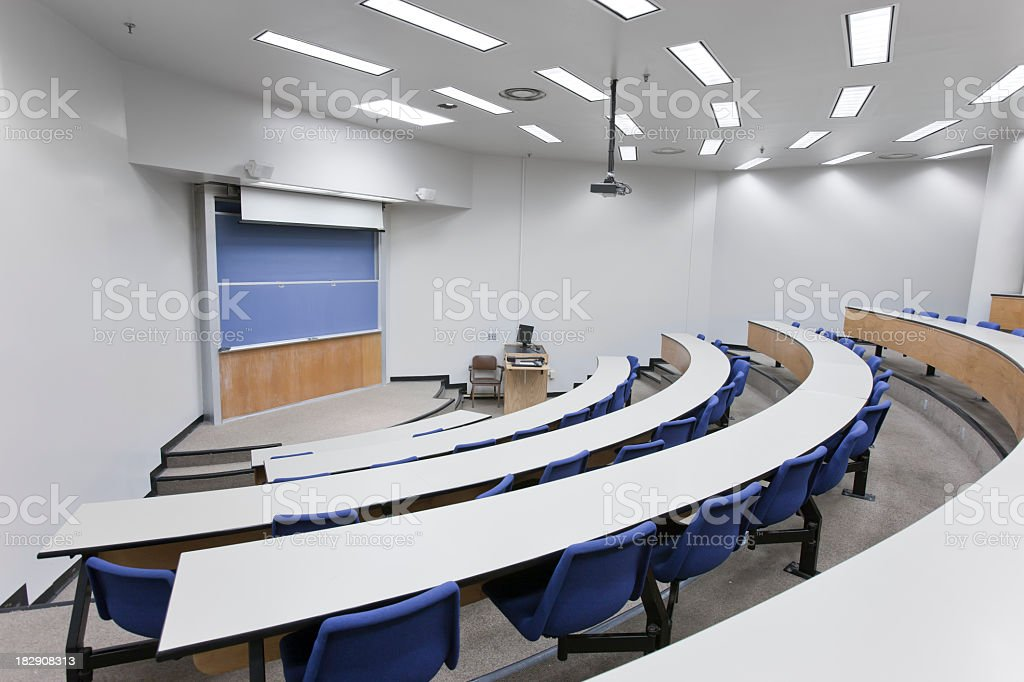 White interior of a lecture hall royalty-free stock photo