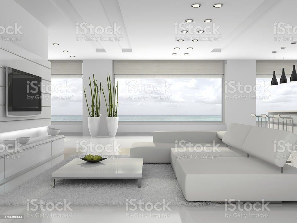 White interior of the stylish apartment royalty-free stock photo