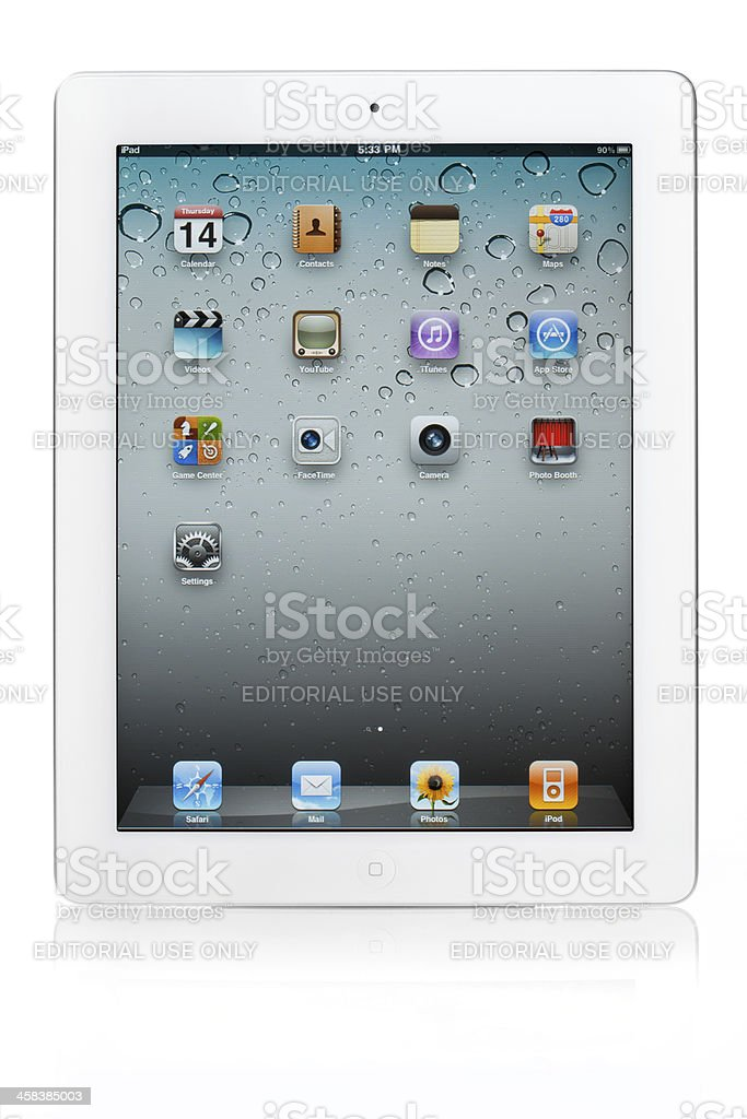 white iPad 2 from Apple royalty-free stock photo