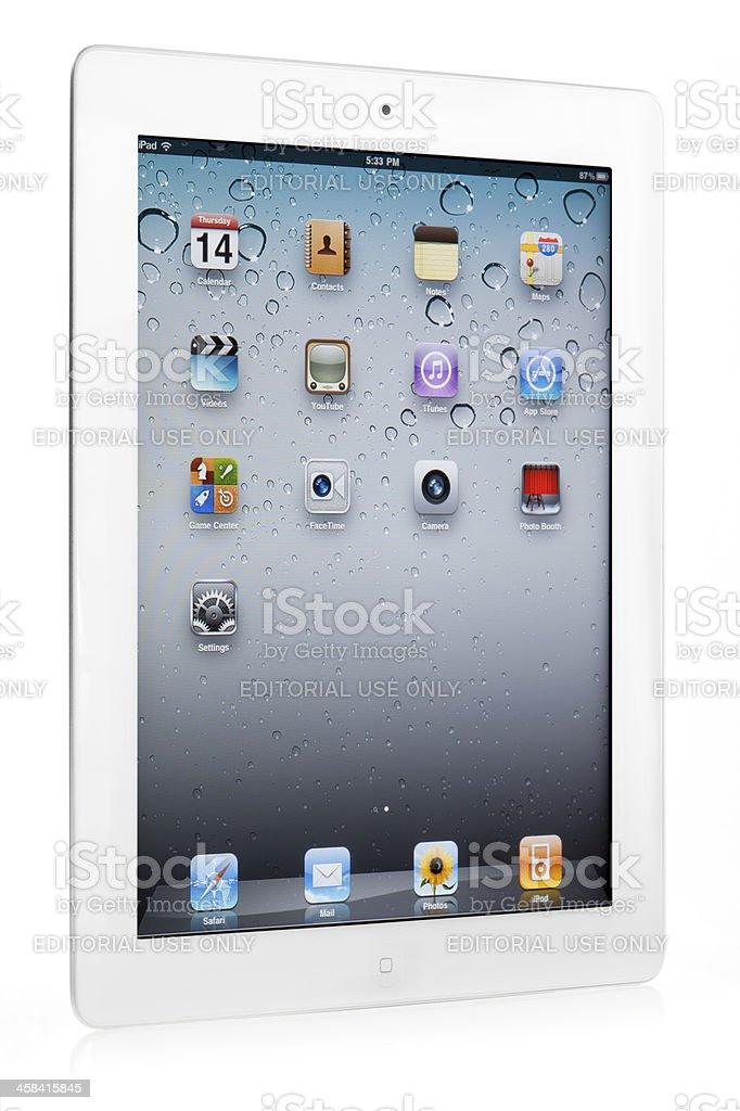 white iPad 2 from Apple stock photo