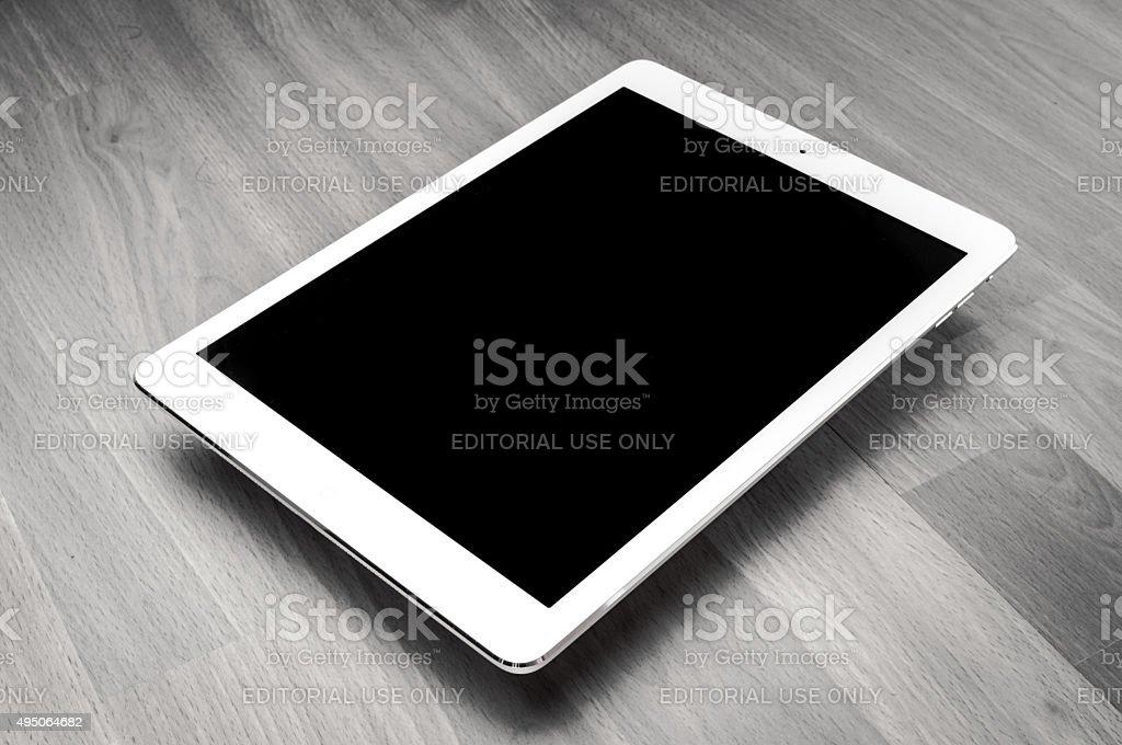 White iPad Air - Stock Image stock photo