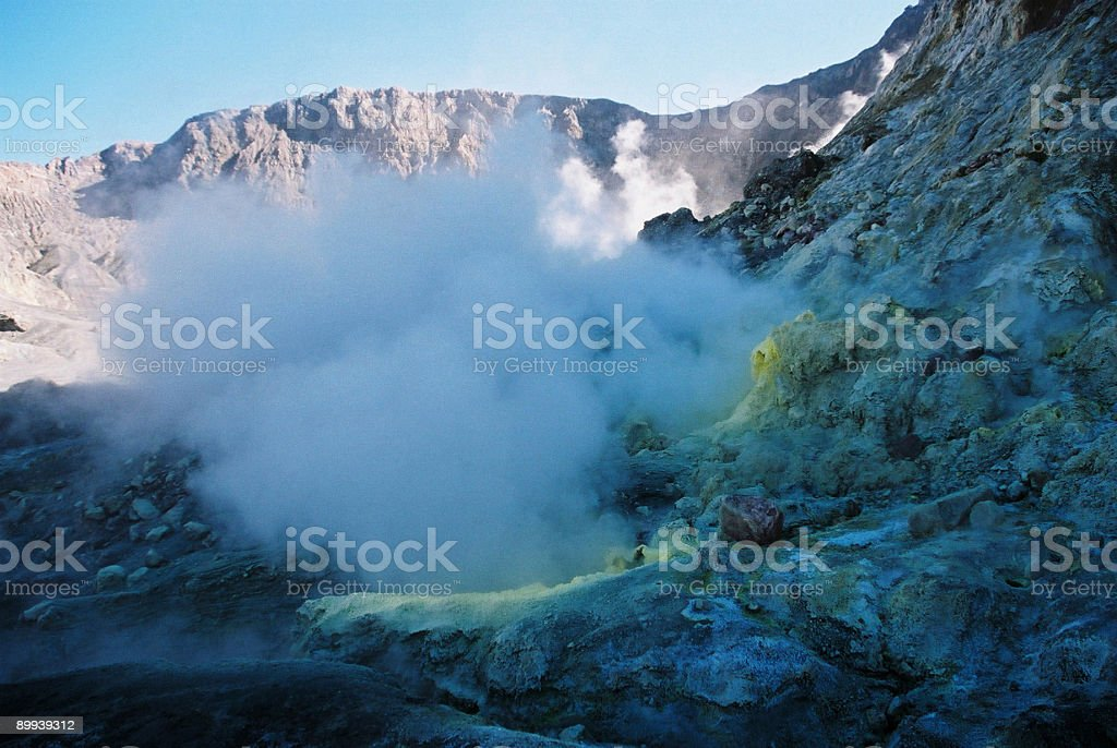 White island active volcano royalty-free stock photo
