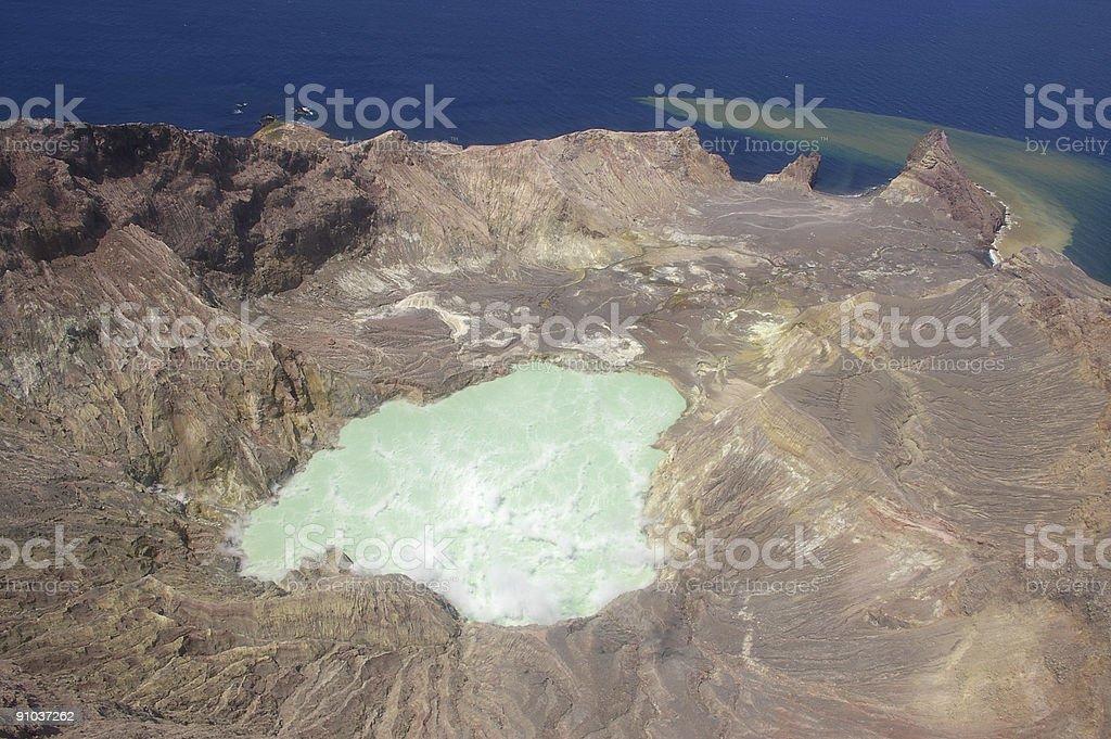 White Island crater stock photo