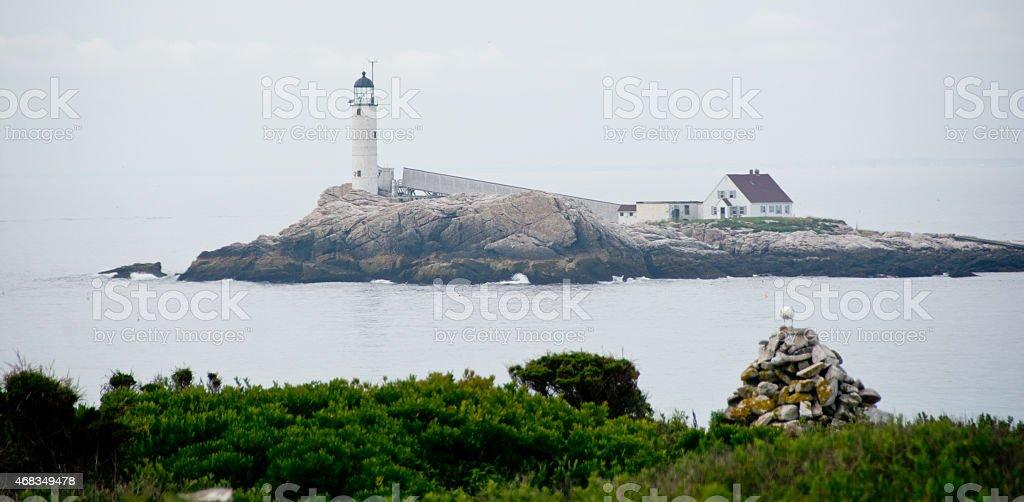 White Island Light stock photo