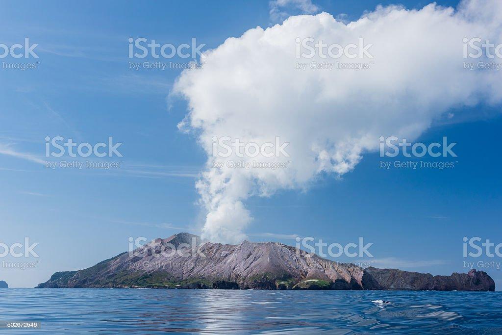 White Island stock photo