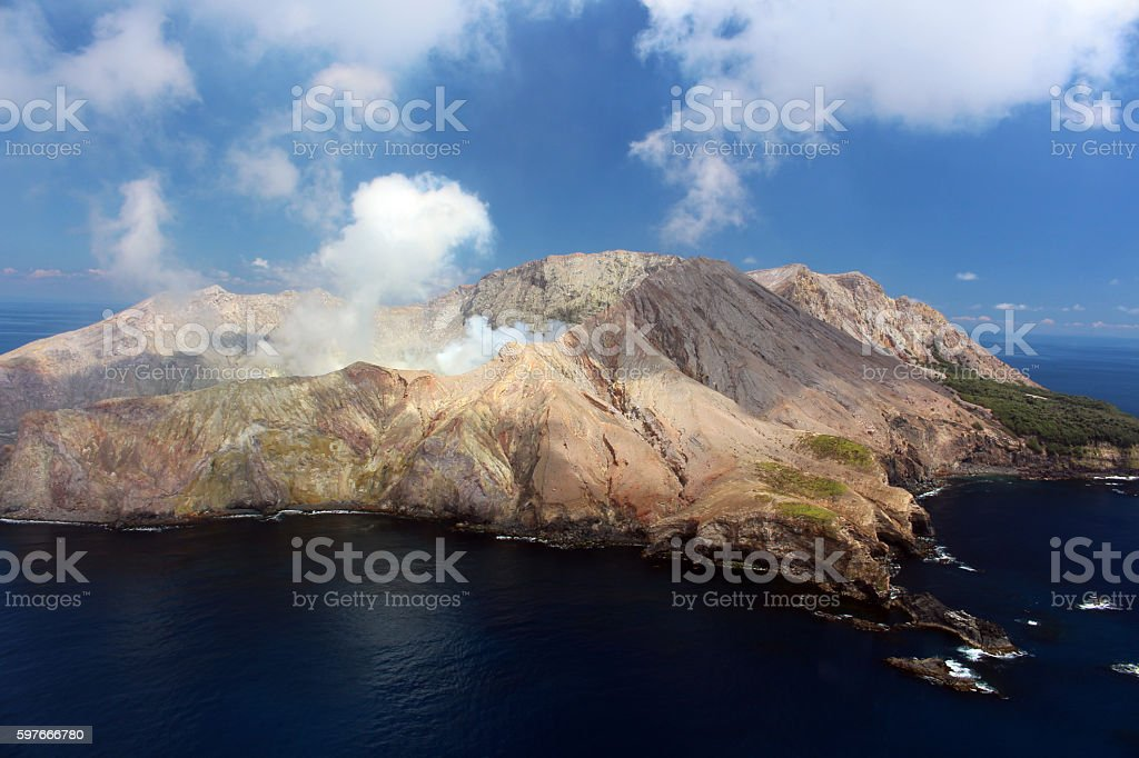 White Island-Vulkaninsel stock photo