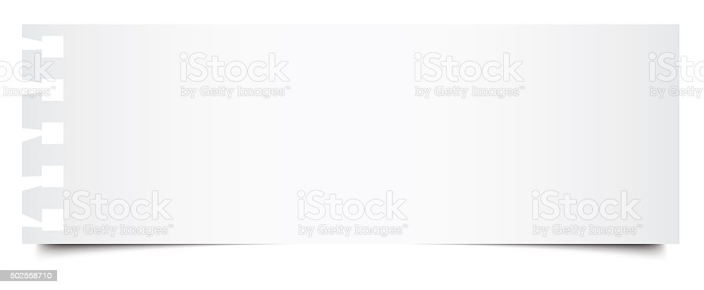 White isolated blank notebook paper stock photo