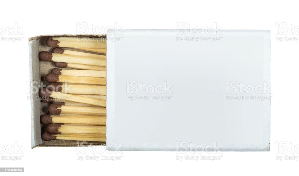 White isolated matches and matchsticks stock photo