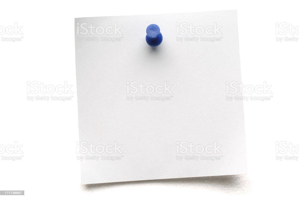 White isolated Postit Note royalty-free stock photo