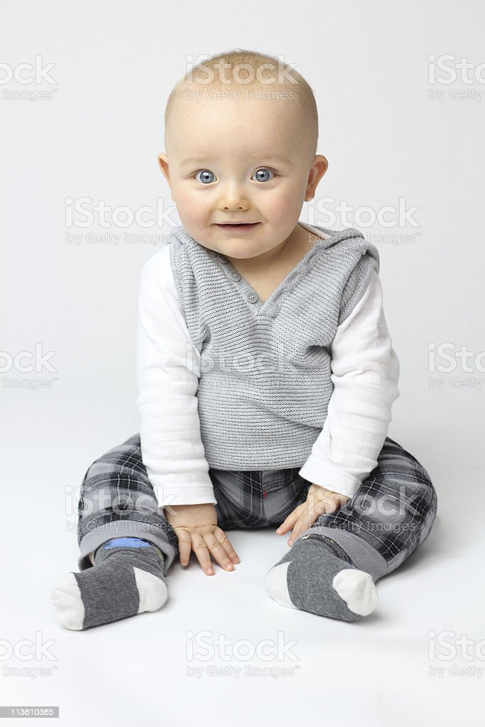 White Isolation of Baby stock photo