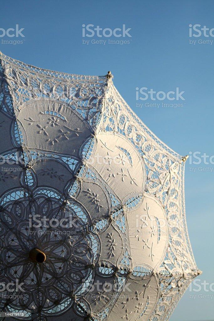 White italian umbrella royalty-free stock photo