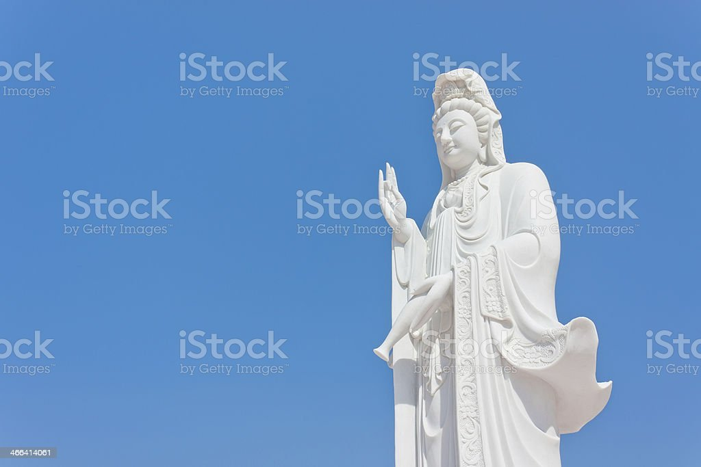 White Jade GuanYin stock photo