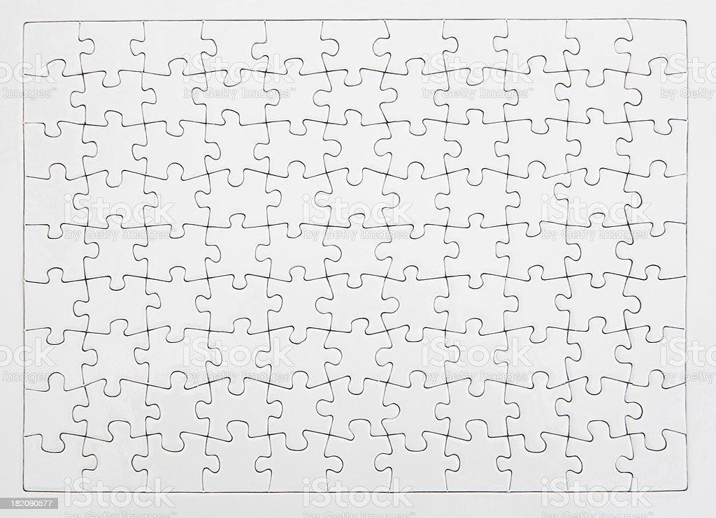 White Jigsaw stock photo