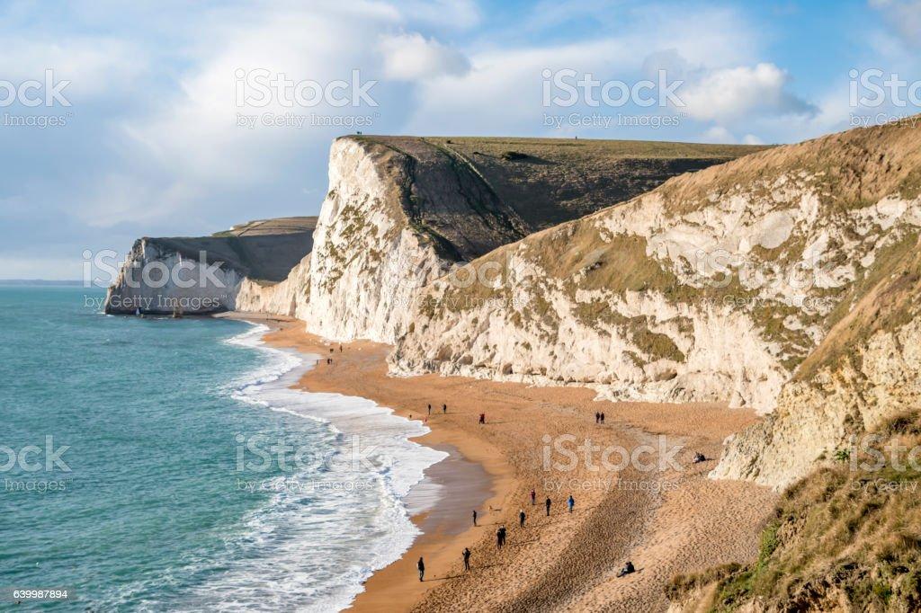 White Jurassic Coast Cliffs stock photo