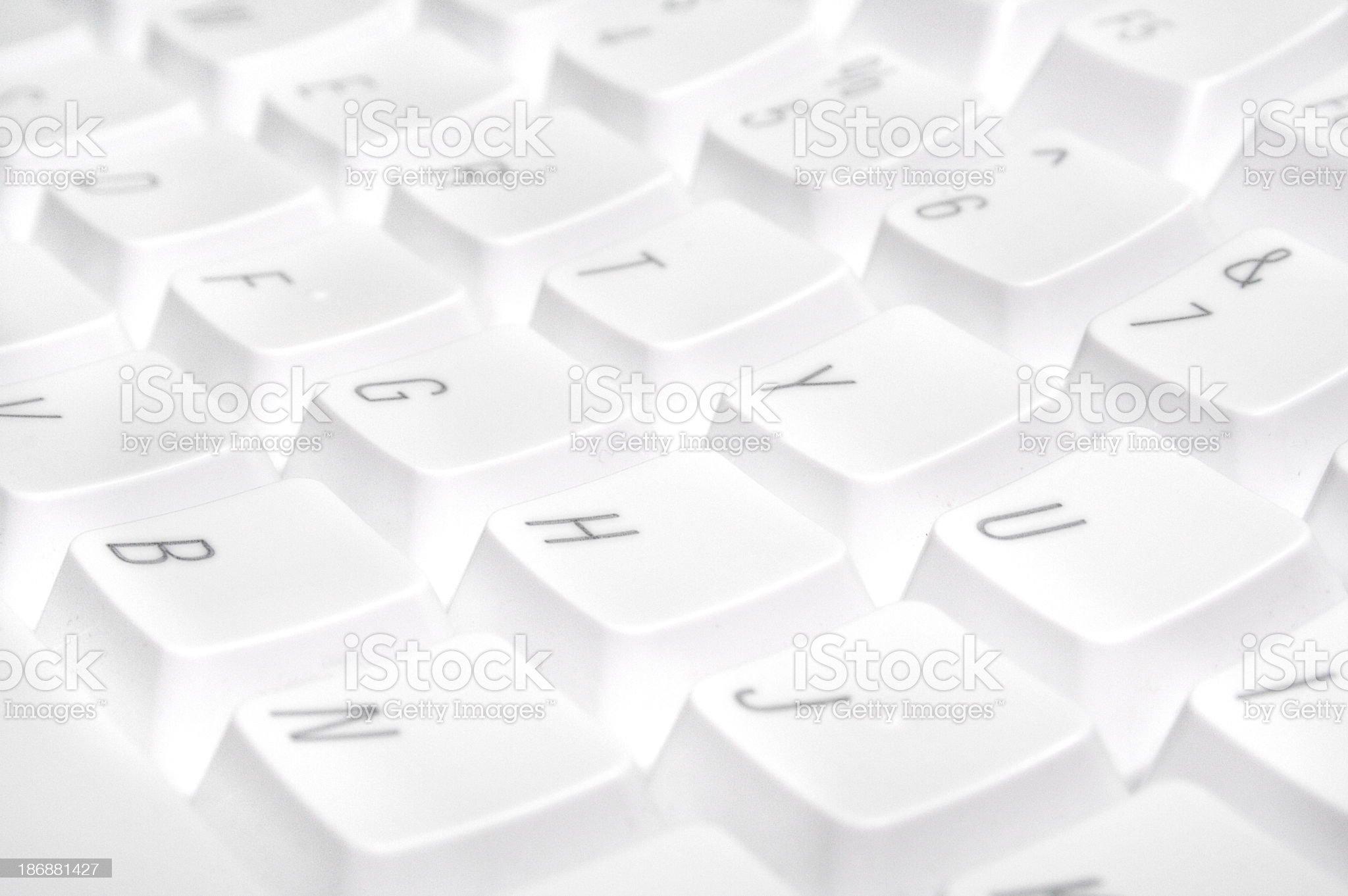 White Keyboard royalty-free stock photo