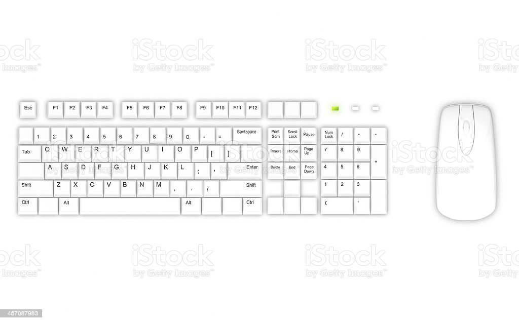 White keyboard royalty-free stock photo