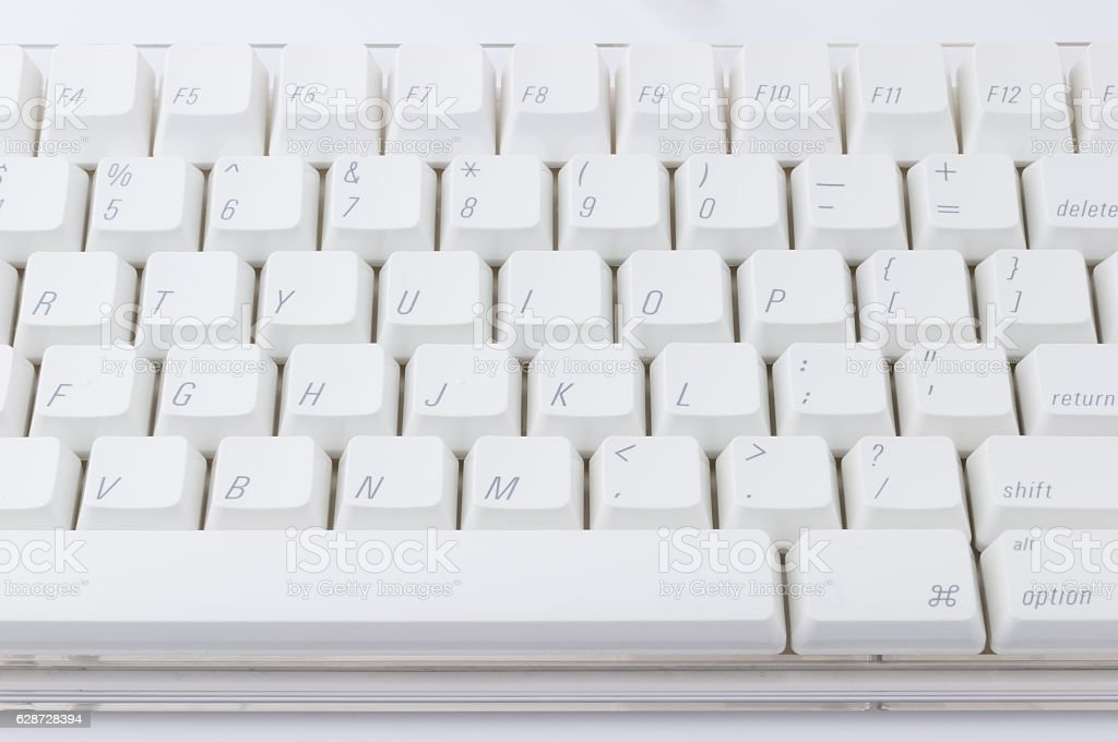 White keyboard stock photo