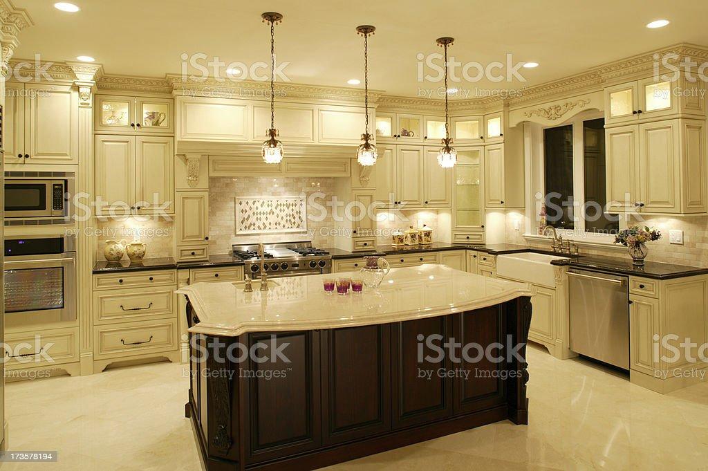 white kitchen modern house mansion royalty-free stock photo