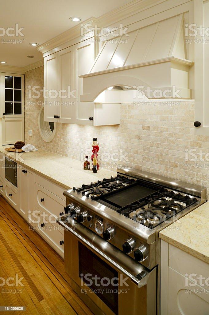 white kitchen stove oven stock photo