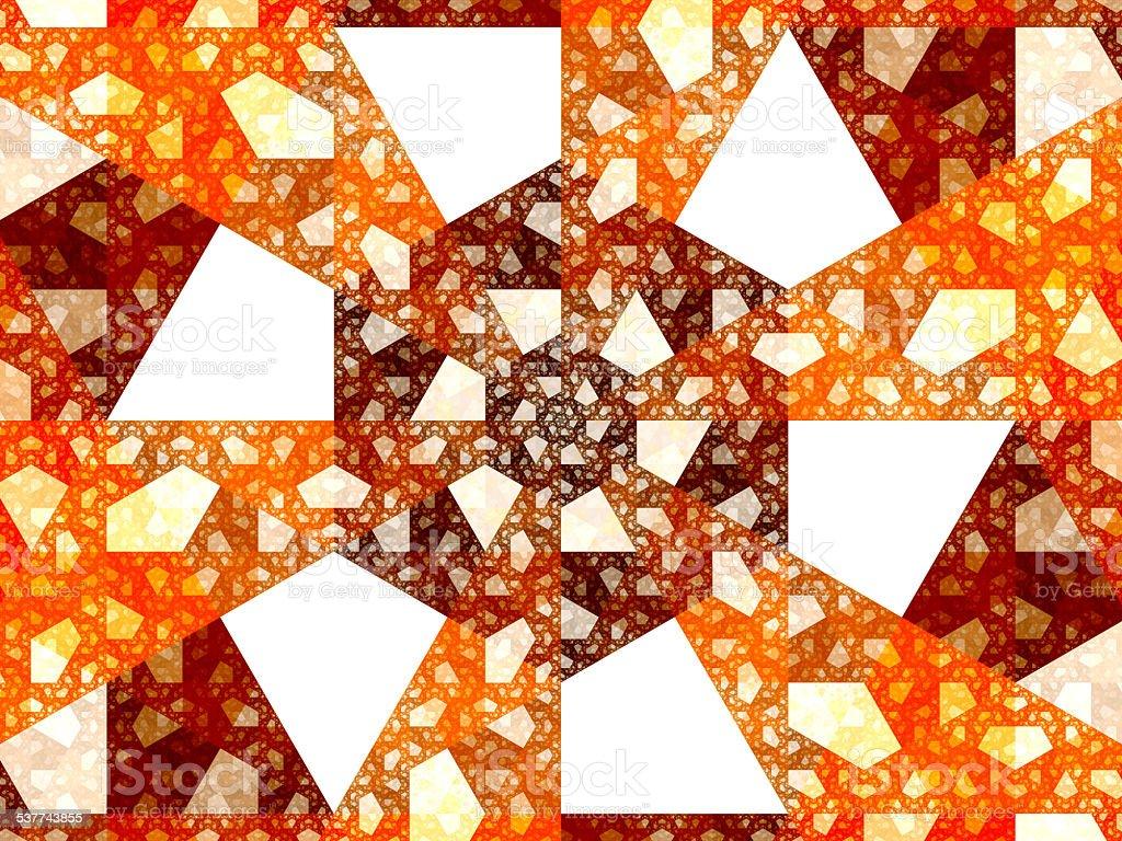 White kites and trapezoids fractal stock photo