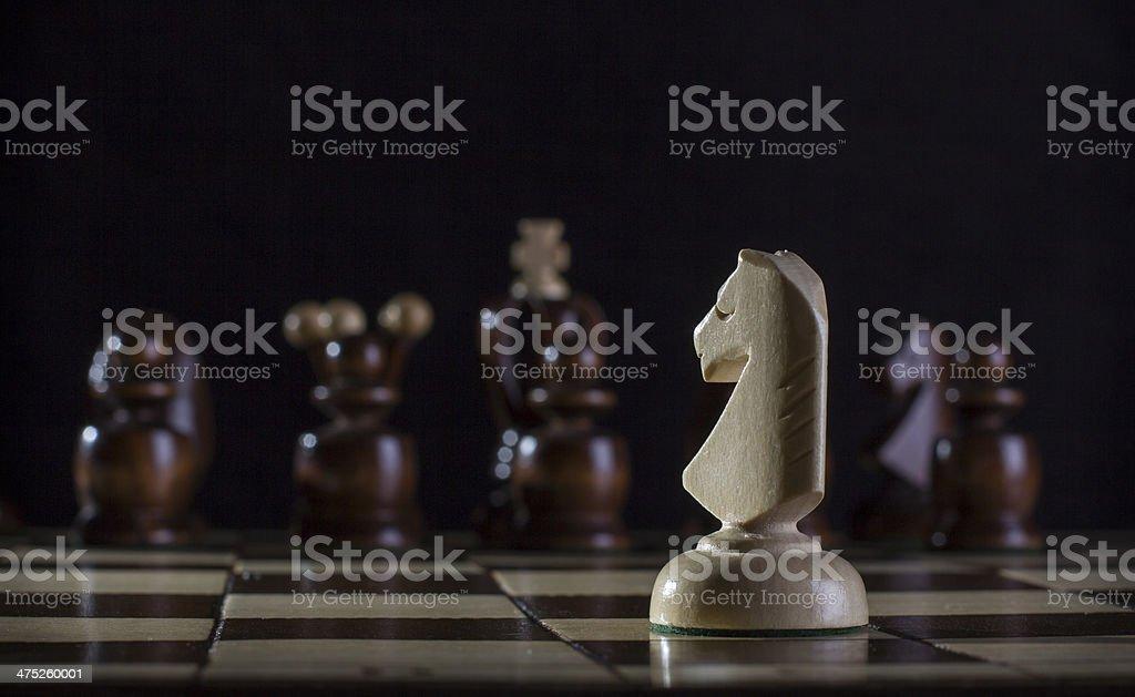 white knight chess royalty-free stock photo