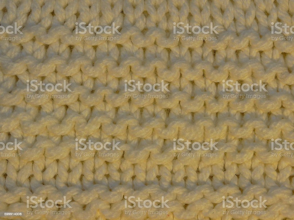 white knitted fabric stock photo