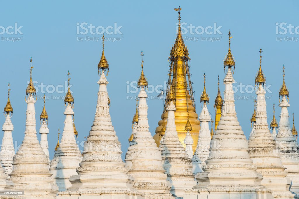 White Kuthodaw Pagoda stock photo