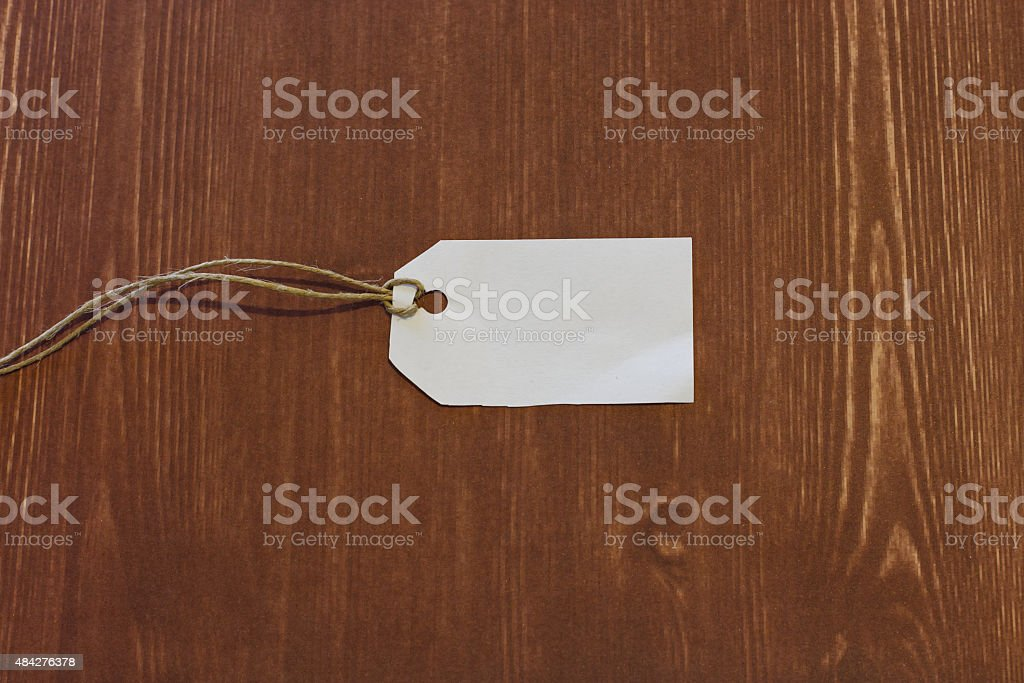 white label isolated wood background stock photo