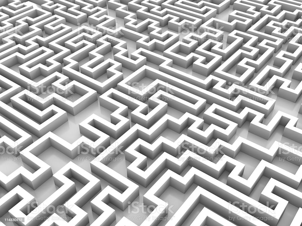 White Labyrinth Background royalty-free stock photo