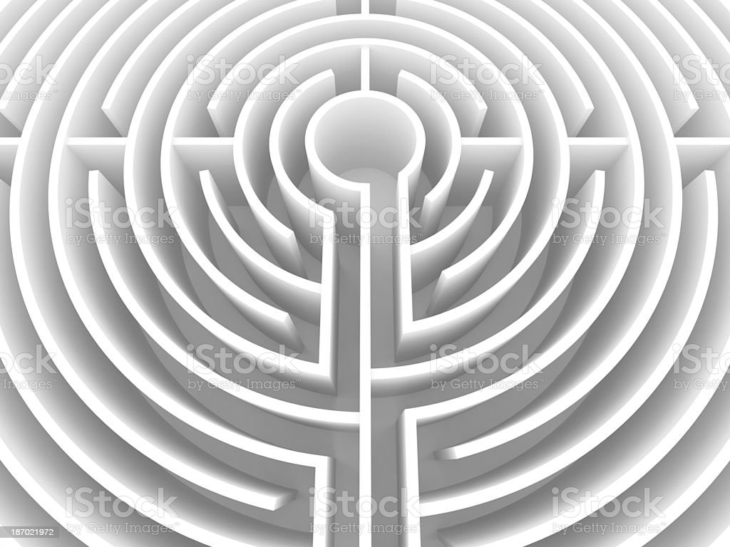 White Labyrinth royalty-free stock photo