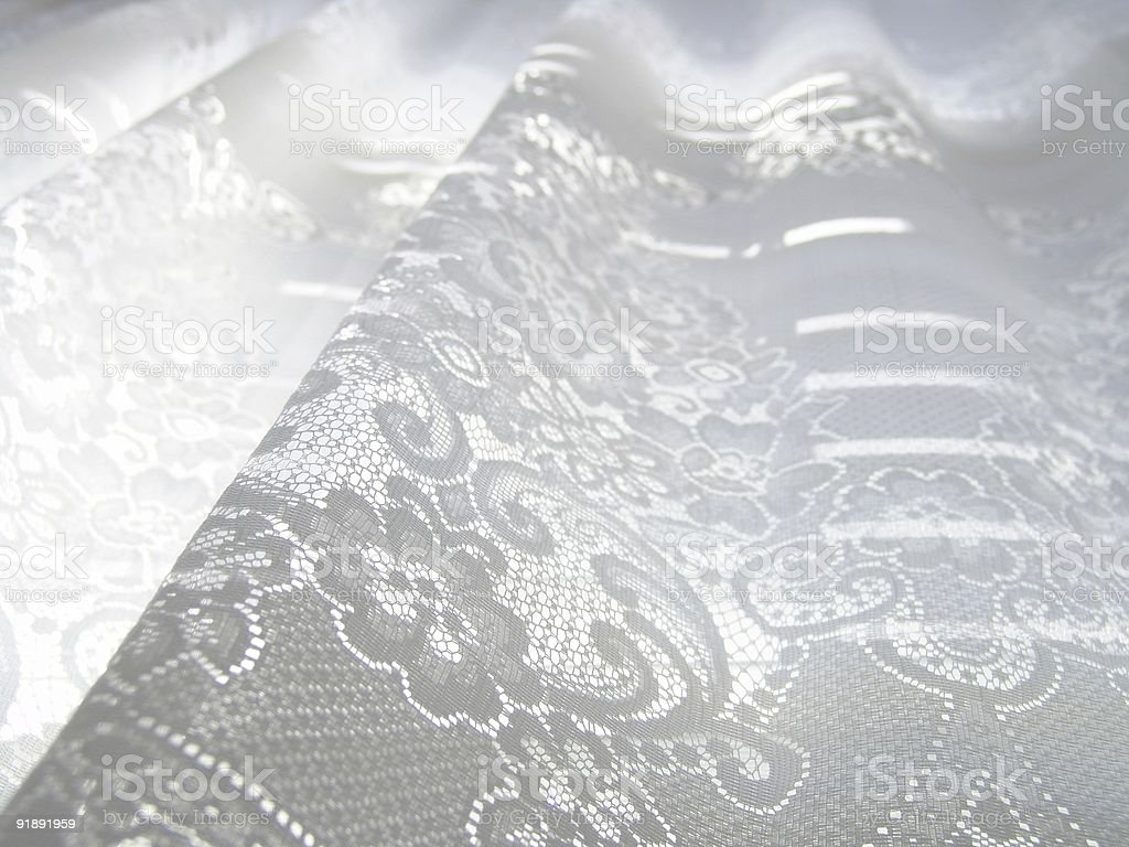 White Lace Curtain royalty-free stock photo