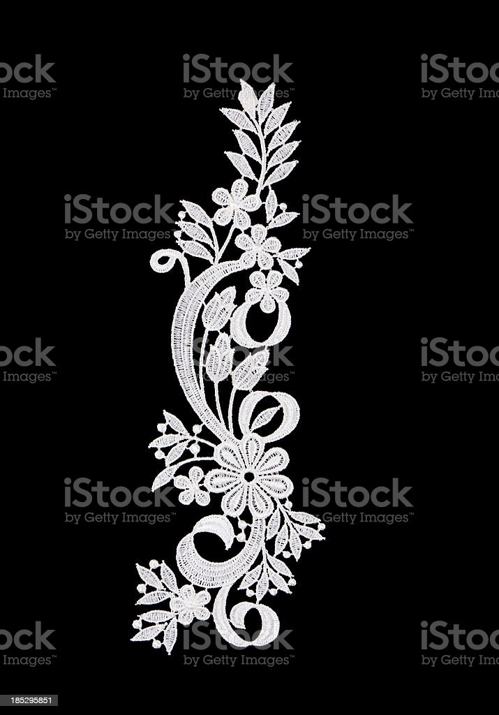 white lace flowers stock photo