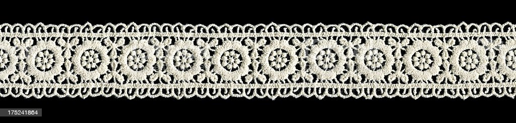 White Lace isolated royalty-free stock photo