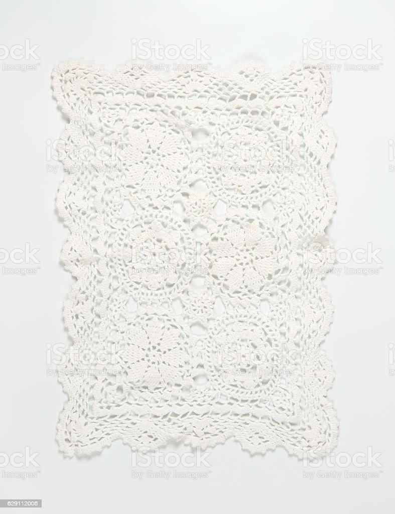 white lace place mat stock photo