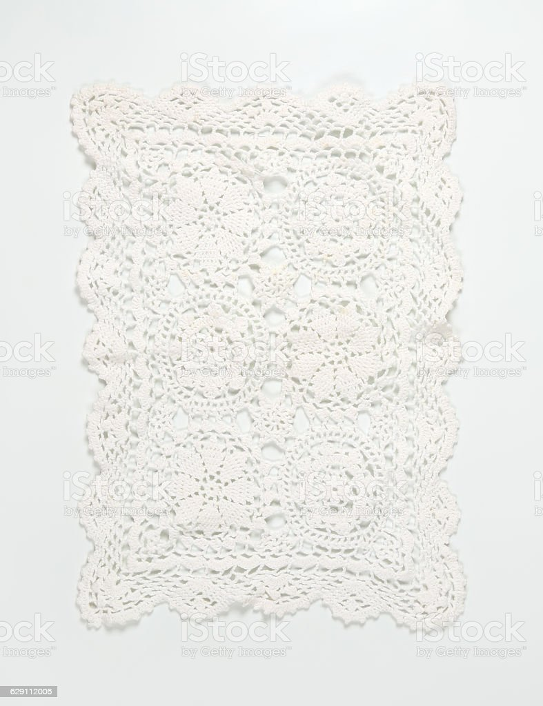 white lace place mat stock photo