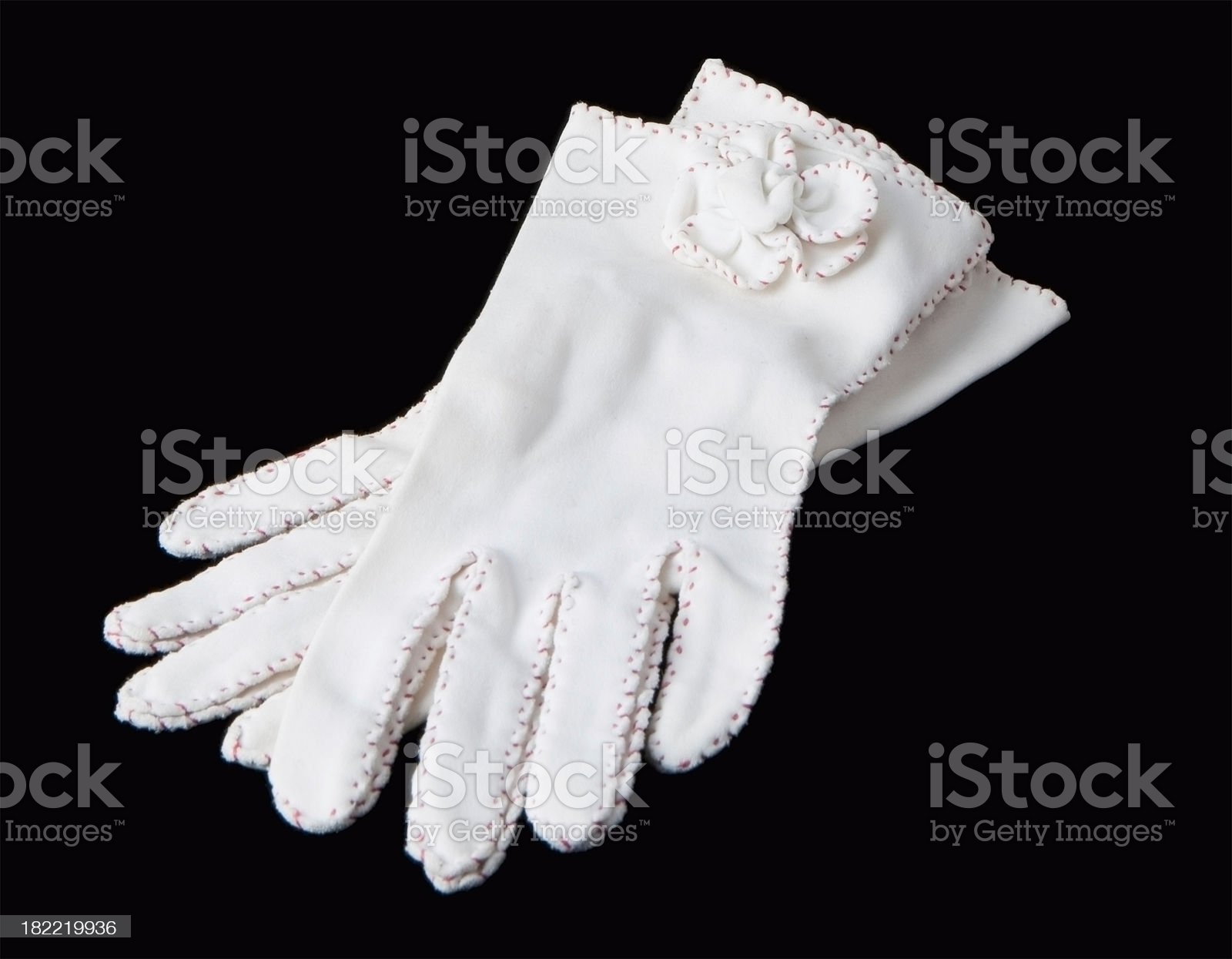white ladies gloves formal on black royalty-free stock photo