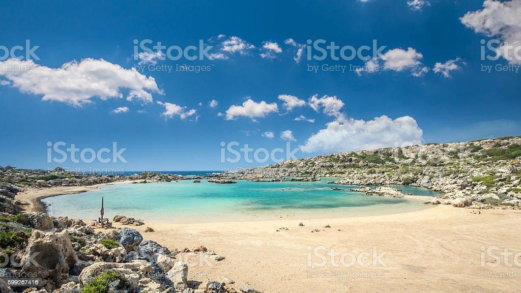 White Lake in Crete island, Greece. stock photo
