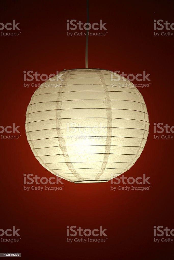 White Lamp stock photo