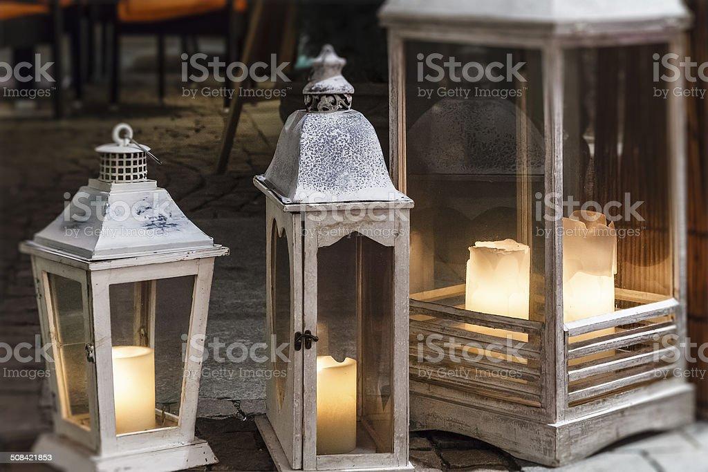White Lanterns royalty-free stock photo