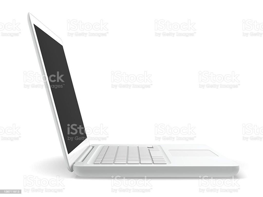 White Laptop Computer stock photo