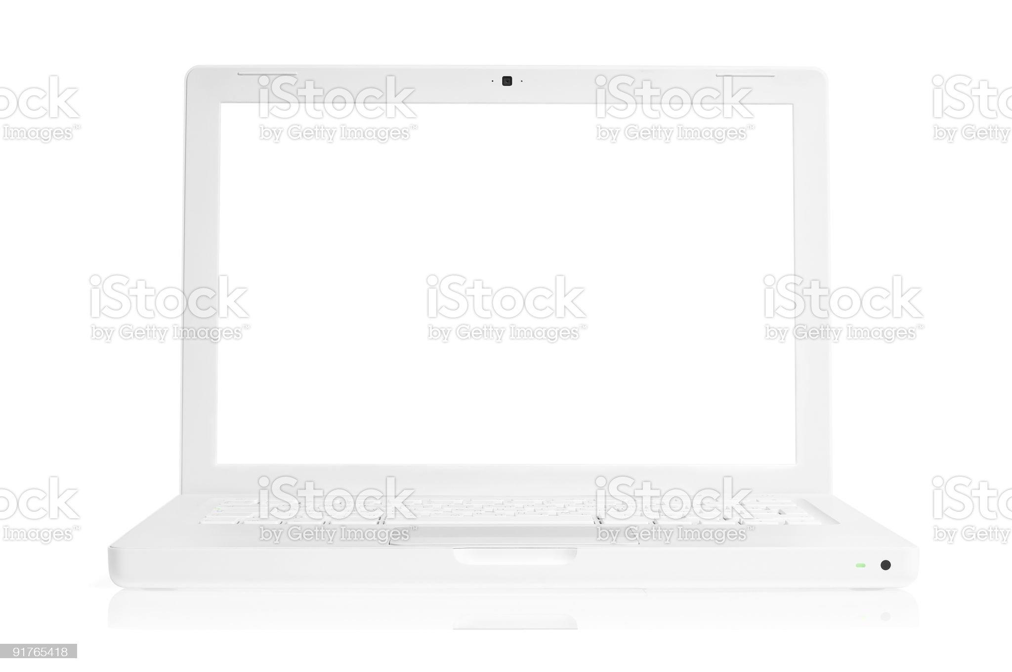 White laptop royalty-free stock photo